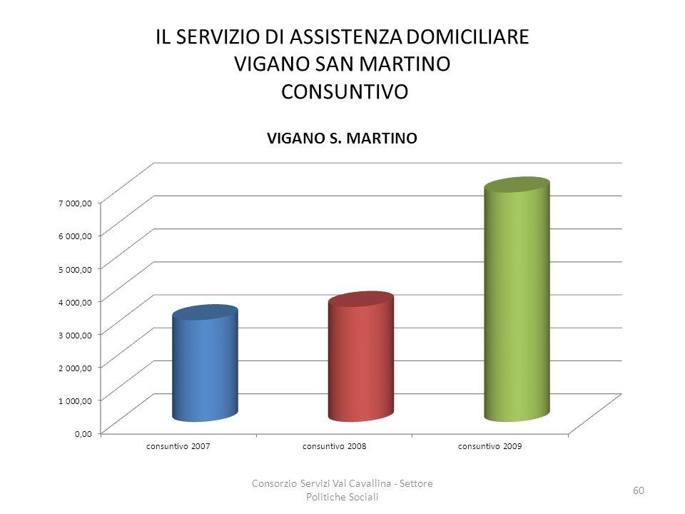 IL SERVIZIO DI ASSISTENZA DOMICILIARE VIGANO SAN MARTINO CONSUNTIVO