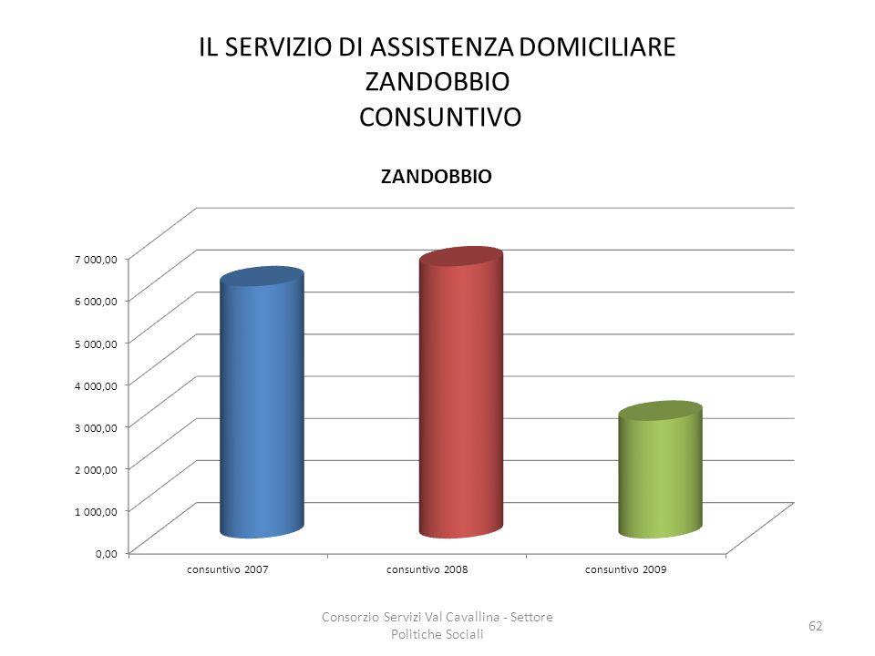 IL SERVIZIO DI ASSISTENZA DOMICILIARE ZANDOBBIO CONSUNTIVO