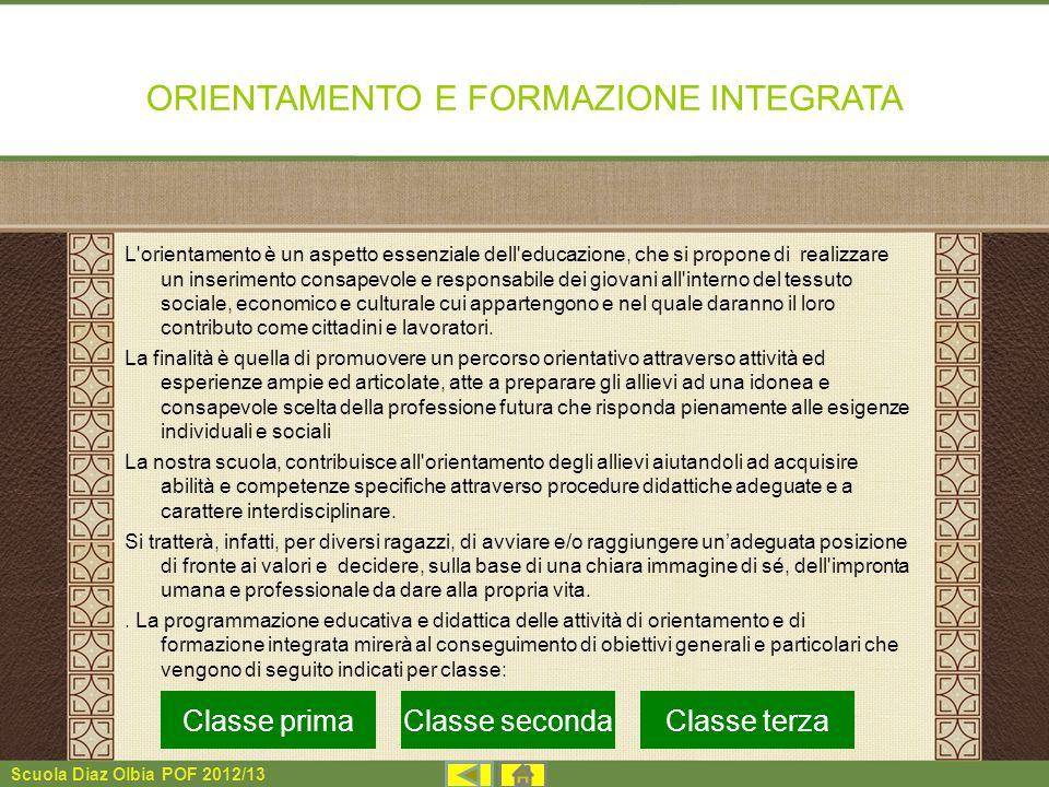 ORIENTAMENTO E FORMAZIONE INTEGRATA