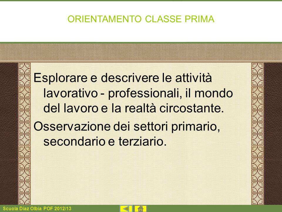 ORIENTAMENTO CLASSE PRIMA