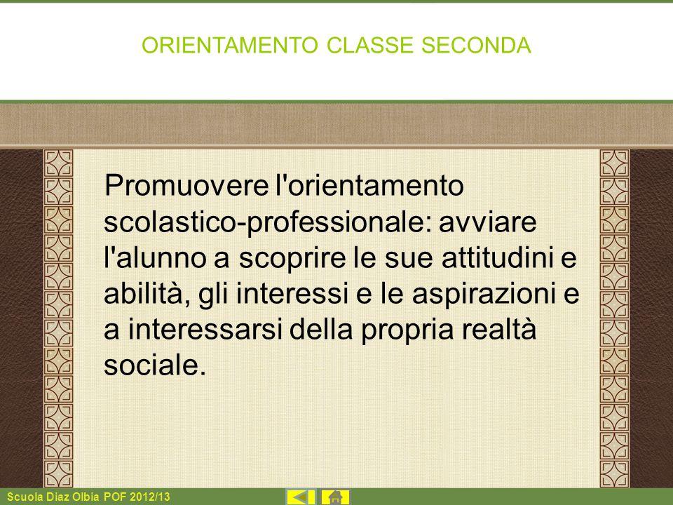 ORIENTAMENTO CLASSE SECONDA