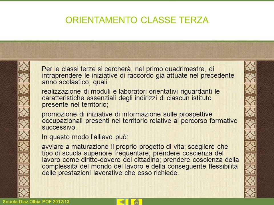 ORIENTAMENTO CLASSE TERZA