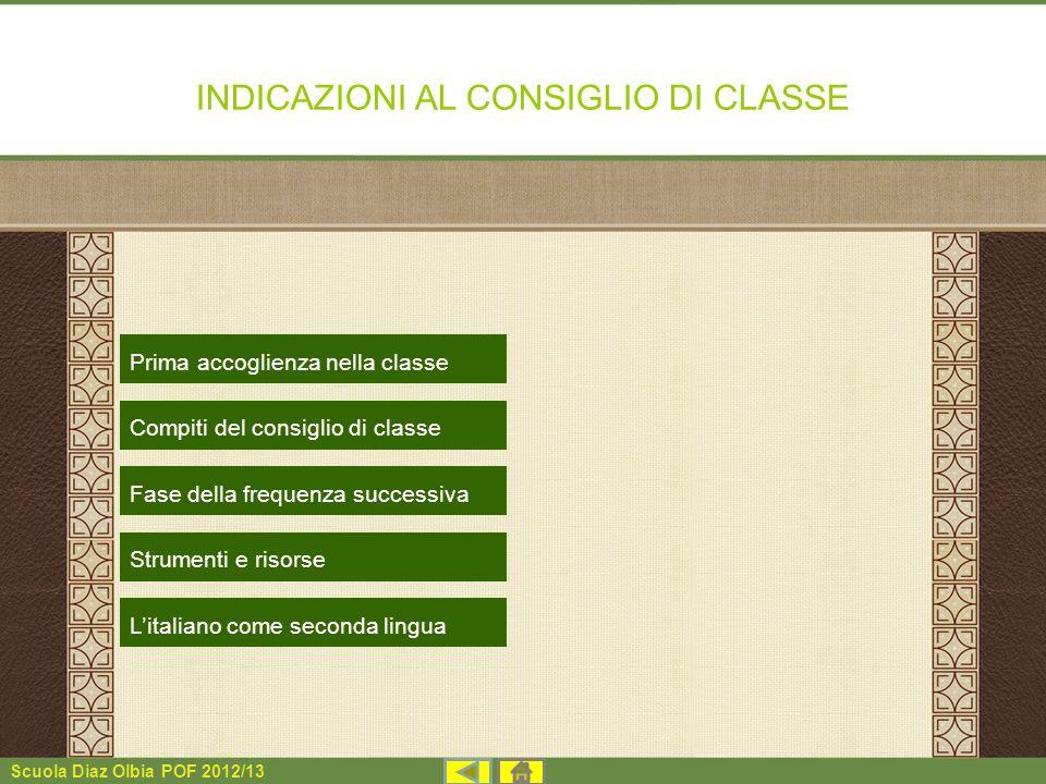INDICAZIONI AL CONSIGLIO DI CLASSE