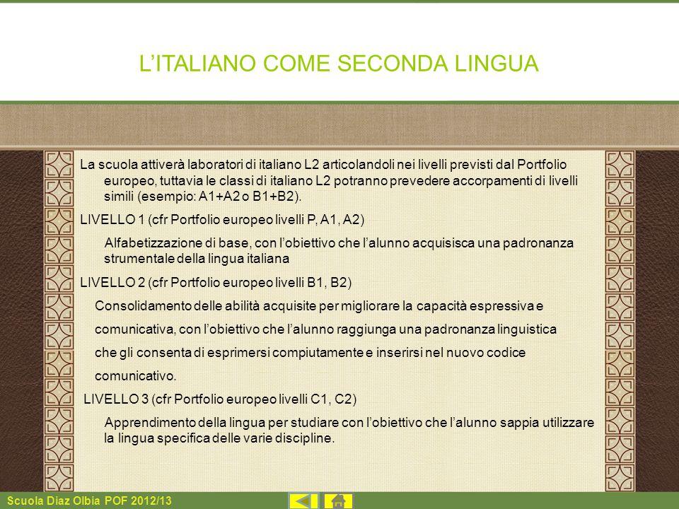L'ITALIANO COME SECONDA LINGUA