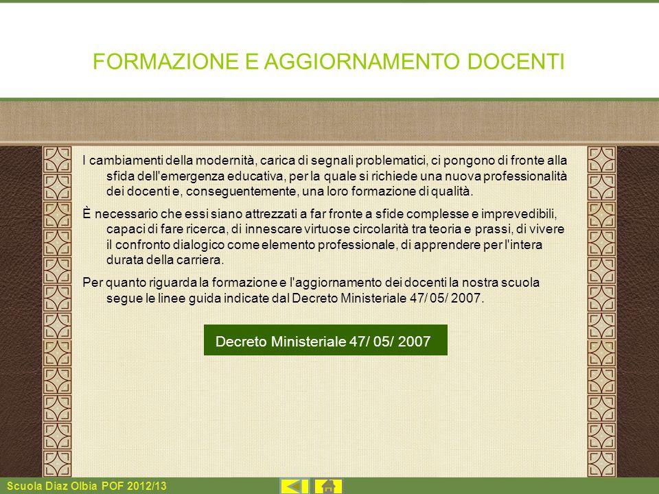 FORMAZIONE E AGGIORNAMENTO DOCENTI