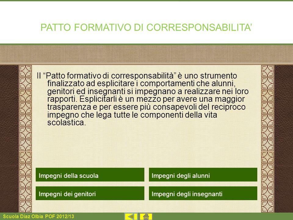 PATTO FORMATIVO DI CORRESPONSABILITA'