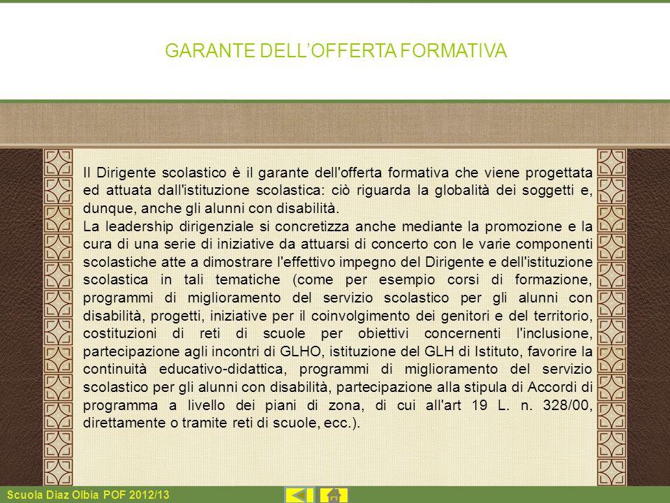 GARANTE DELL'OFFERTA FORMATIVA