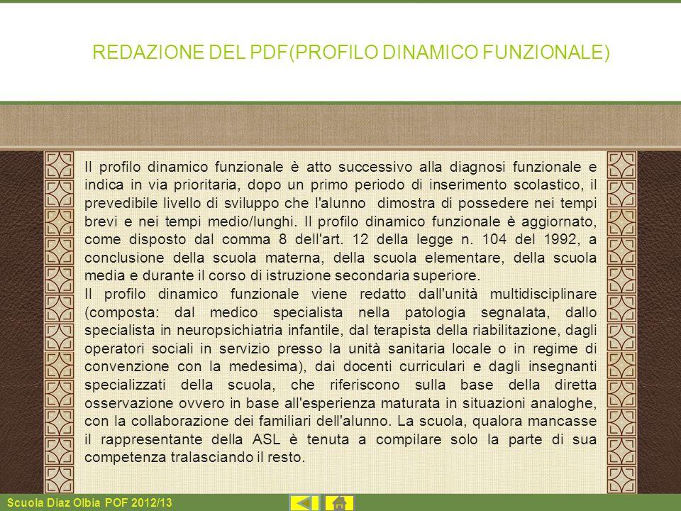 REDAZIONE DEL PDF(PROFILO DINAMICO FUNZIONALE)