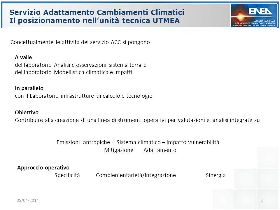 Servizio Adattamento Cambiamenti Climatici
