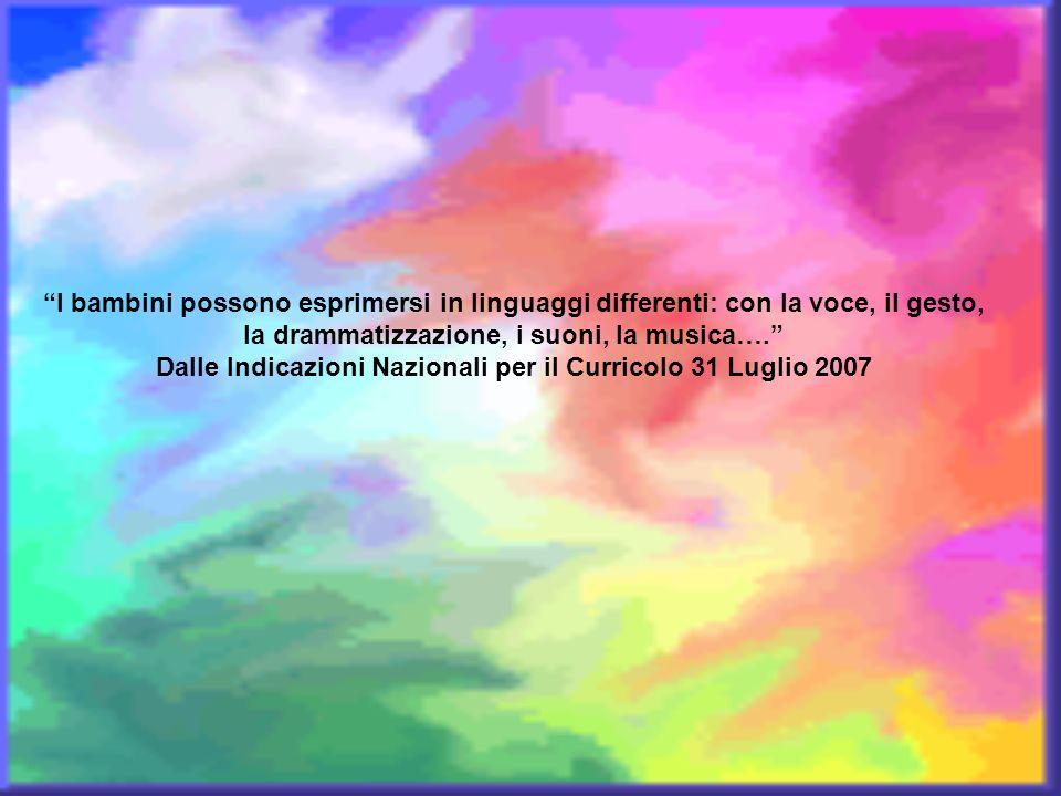 Dalle Indicazioni Nazionali per il Curricolo 31 Luglio 2007