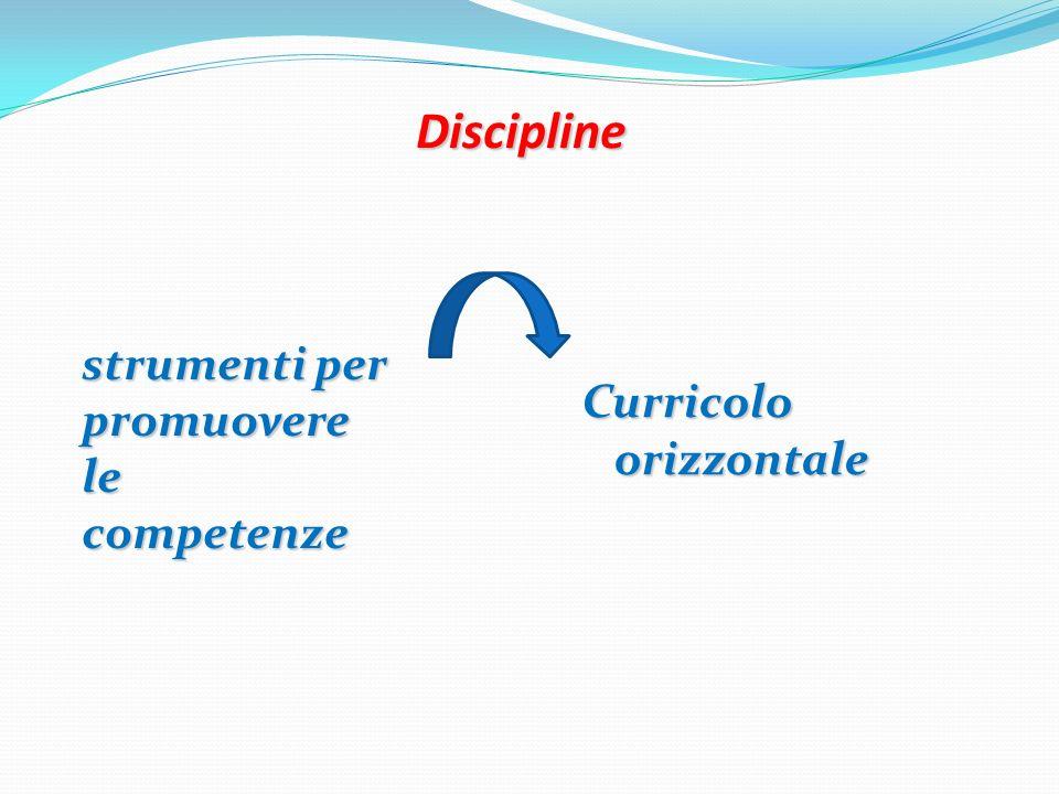 Discipline strumenti per promuovere le competenze