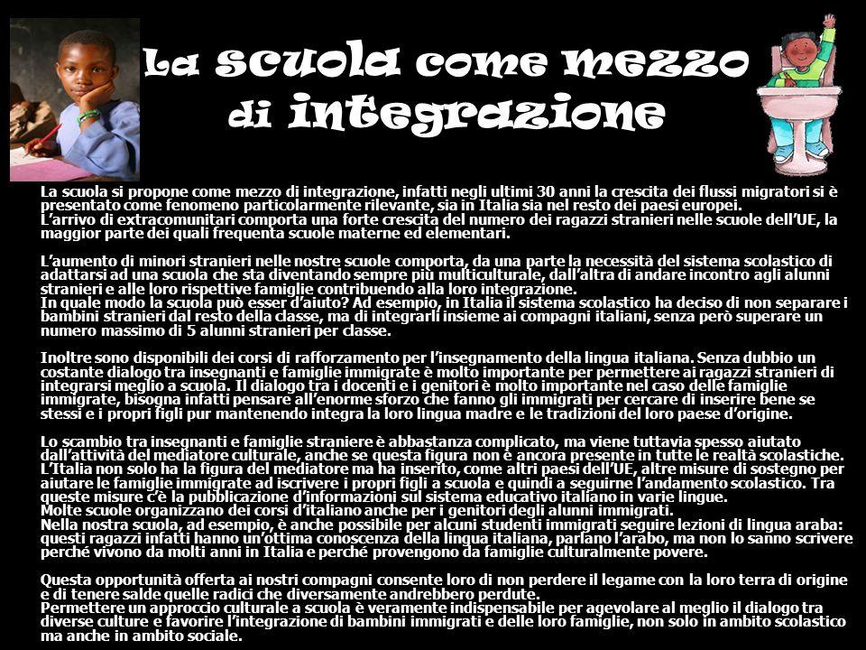 La scuola come mezzo di integrazione