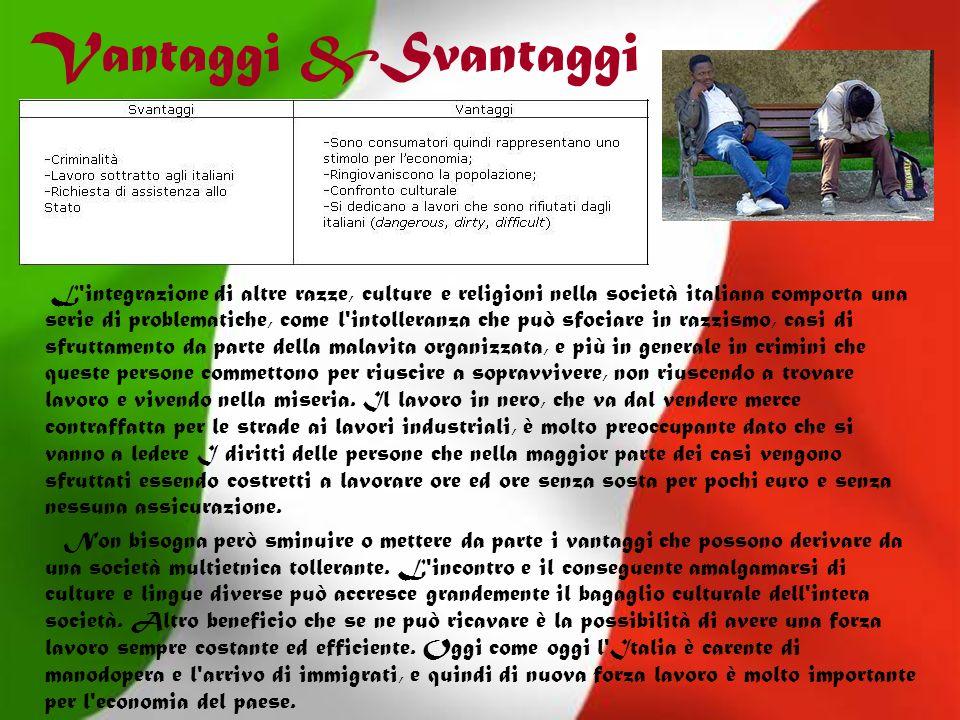 Vantaggi &Svantaggi