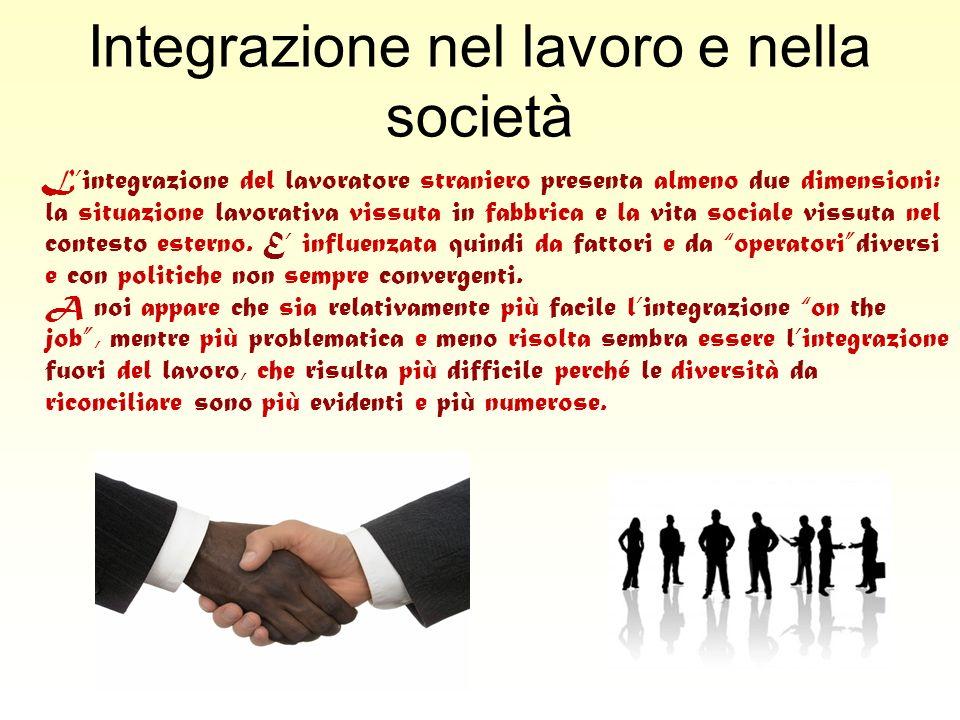 Integrazione nel lavoro e nella società