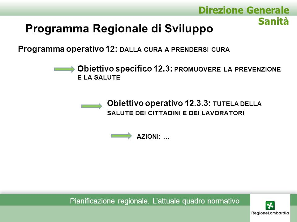 Programma Regionale di Sviluppo