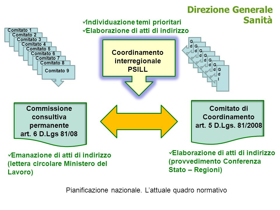 Modello organizzativo centrale