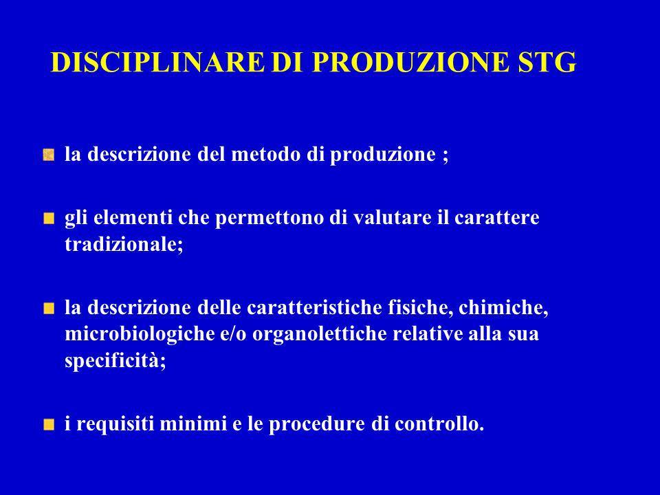 DISCIPLINARE DI PRODUZIONE STG