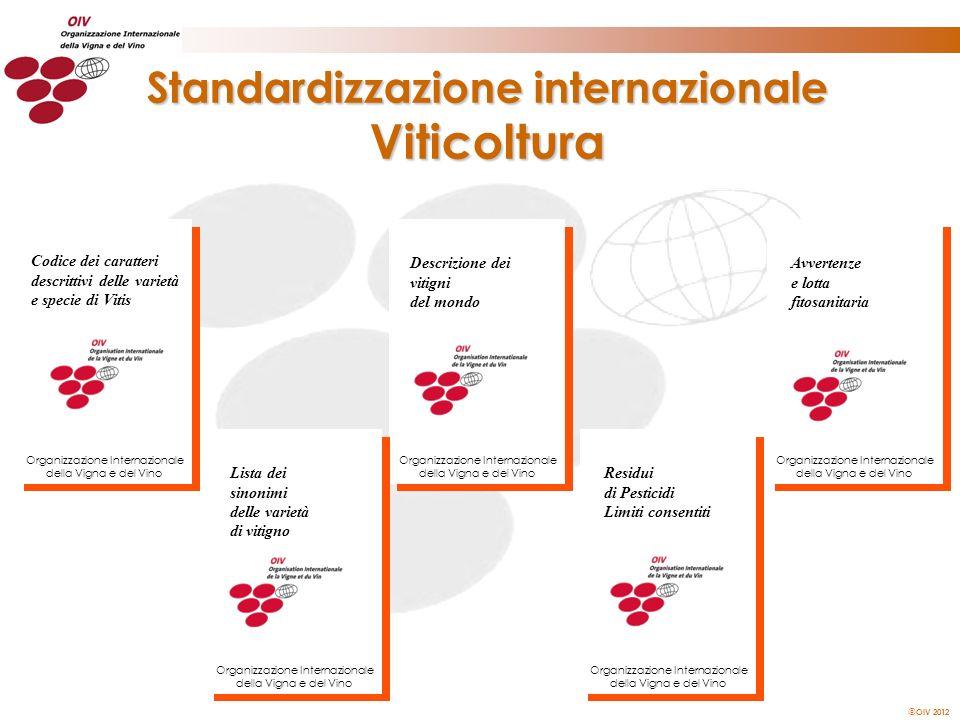 Standardizzazione internazionale Viticoltura