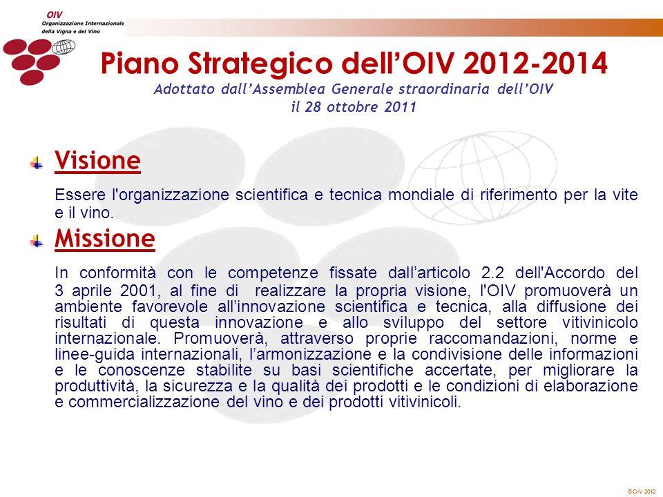 Piano Strategico dell'OIV 2012-2014 Adottato dall'Assemblea Generale straordinaria dell'OIV il 28 ottobre 2011