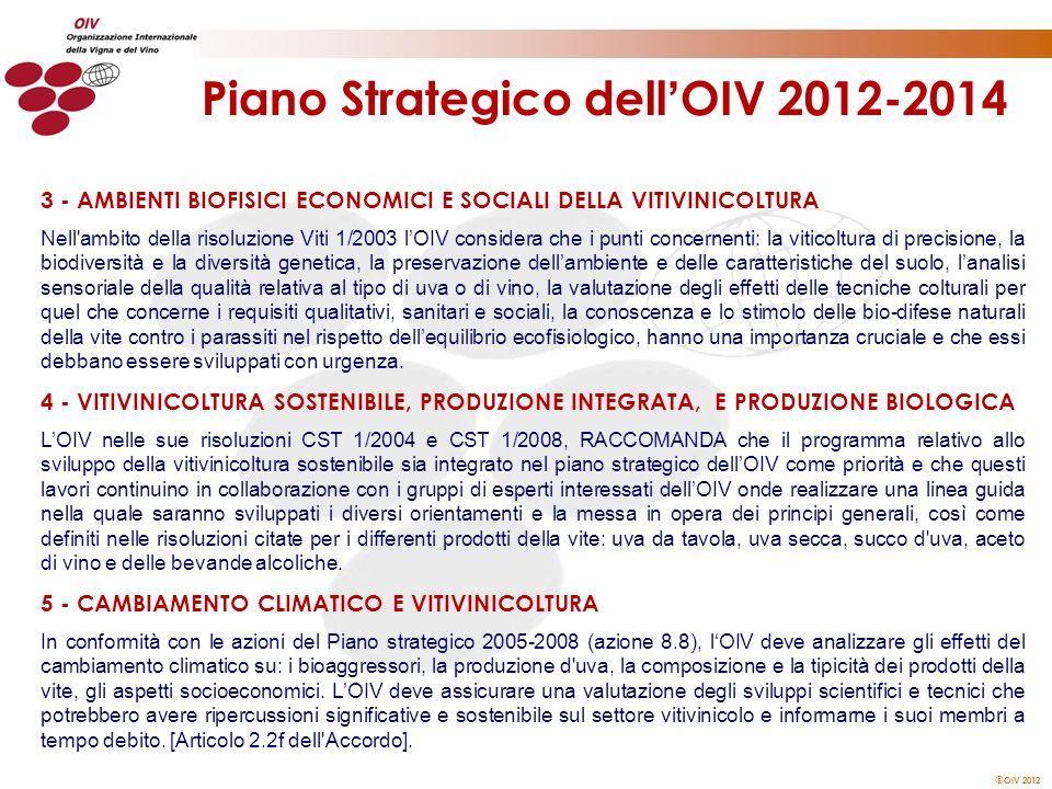 Piano Strategico dell'OIV 2012-2014
