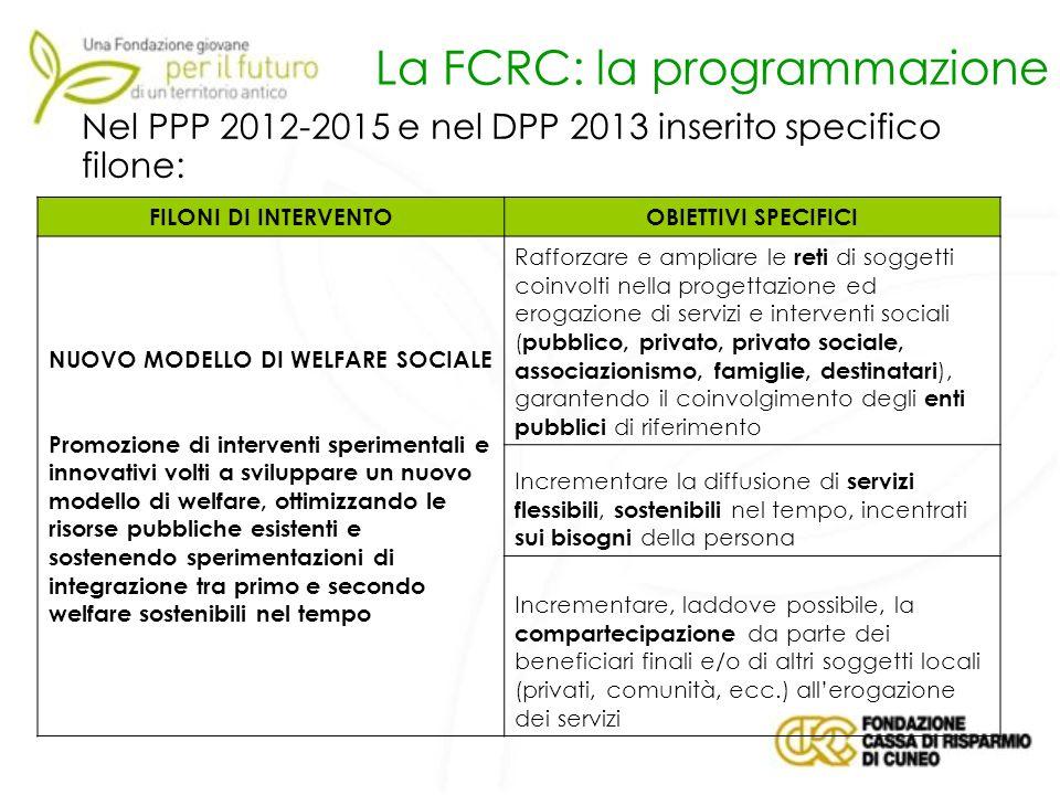 La FCRC: la programmazione