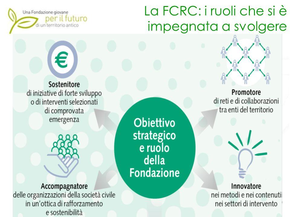 La FCRC: i ruoli che si è impegnata a svolgere