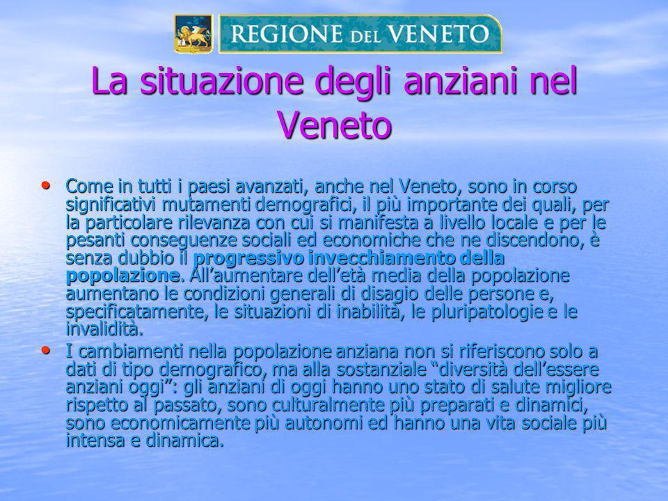 La situazione degli anziani nel Veneto