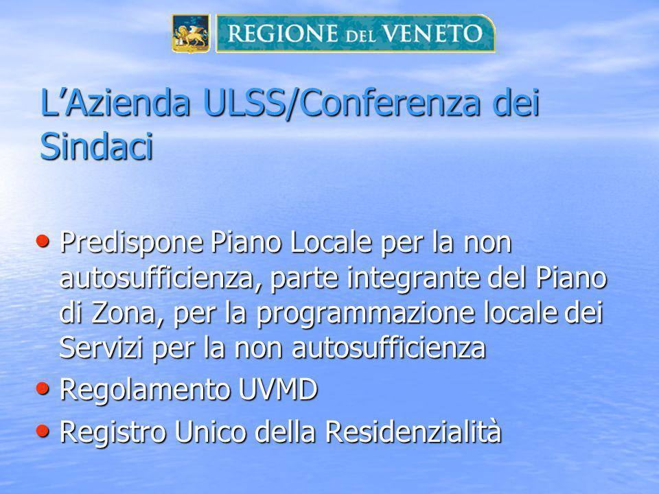 L'Azienda ULSS/Conferenza dei Sindaci