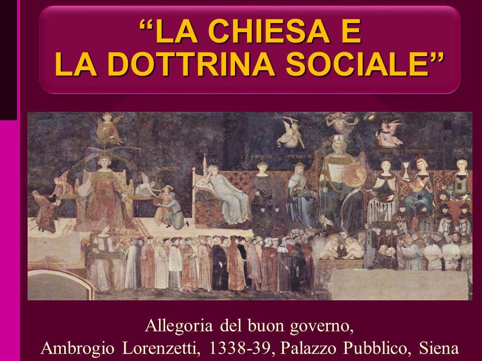 LA CHIESA E LA DOTTRINA SOCIALE