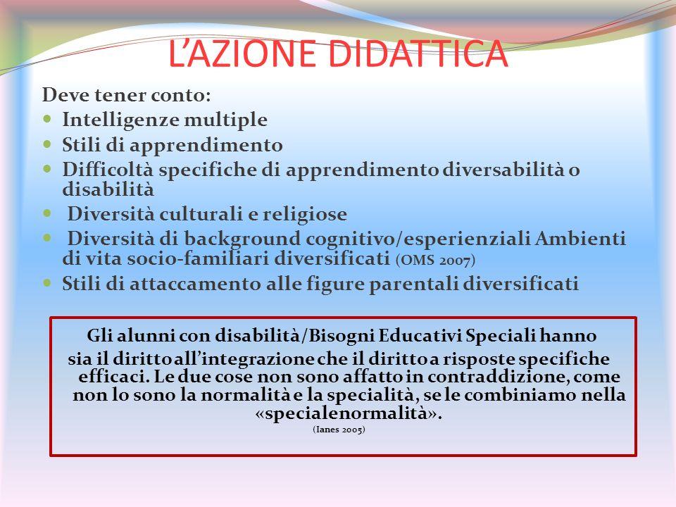 Gli alunni con disabilità/Bisogni Educativi Speciali hanno