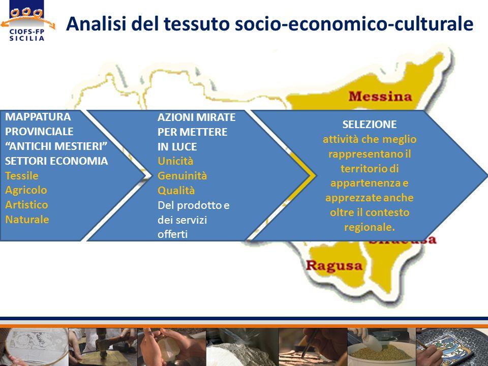 Analisi del tessuto socio-economico-culturale