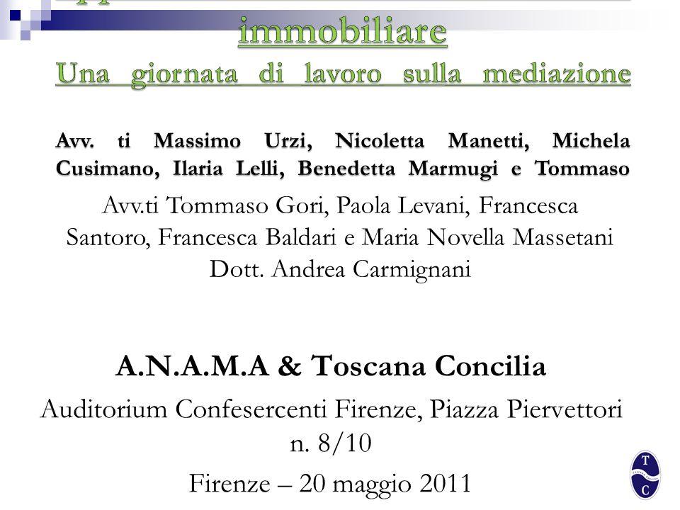 A.N.A.M.A & Toscana Concilia
