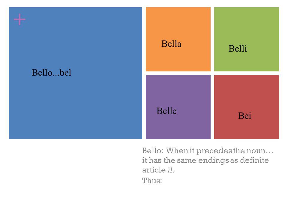 Bella Belli Bello...bel Belle Bei