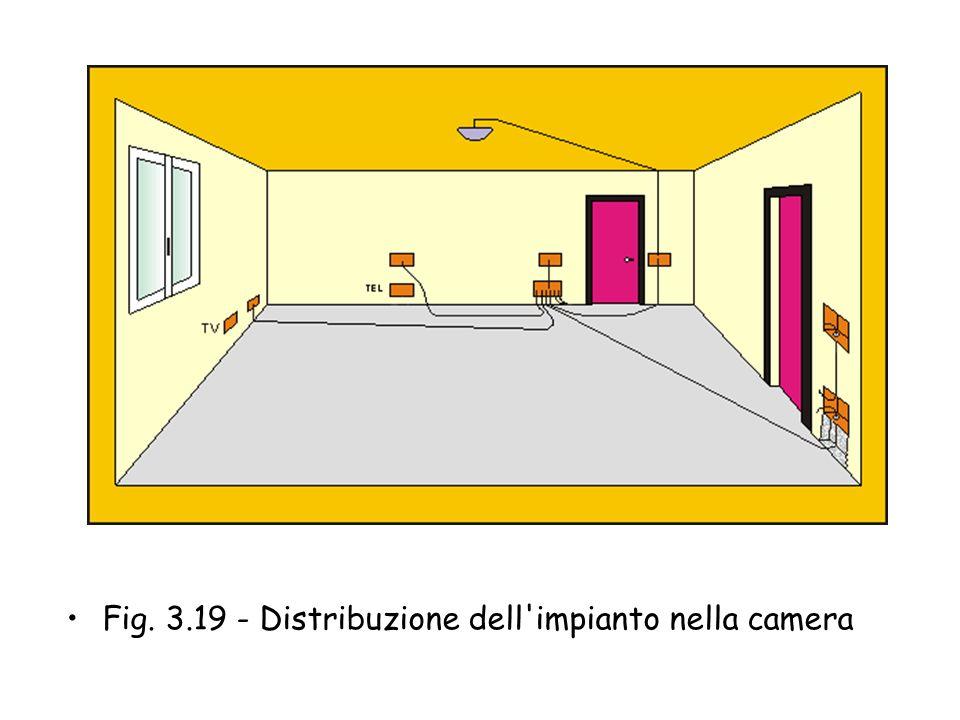 Fig. 3.19 - Distribuzione dell impianto nella camera