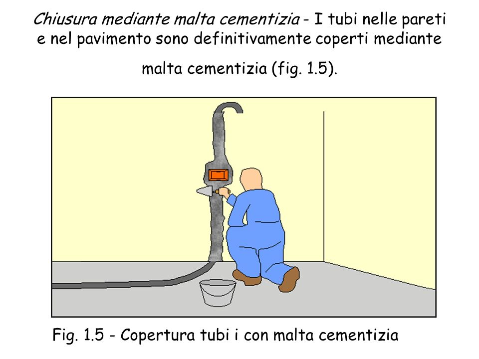 Fig. 1.5 - Copertura tubi i con malta cementizia