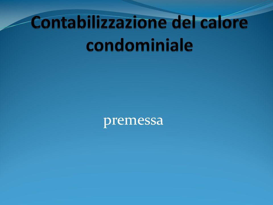 Contabilizzazione del calore condominiale