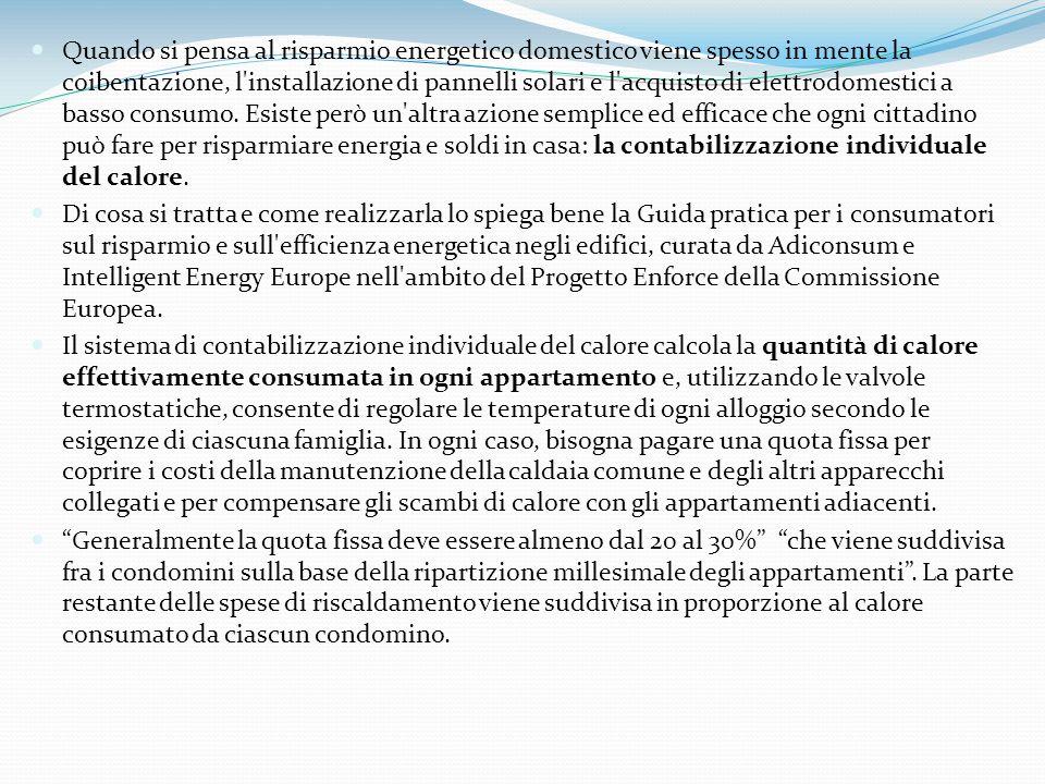 Contabilizzazione del calore condominiale ppt scaricare for Negozio con costi di alloggio