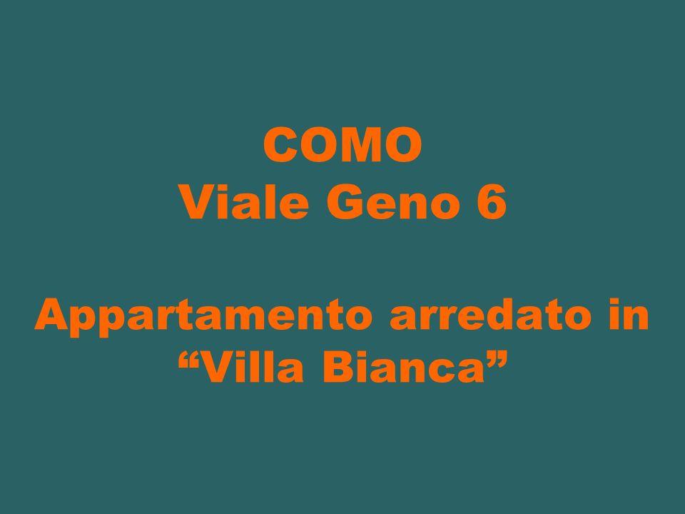 COMO Viale Geno 6 Appartamento arredato in Villa Bianca