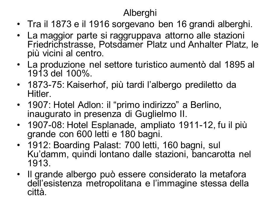 Alberghi Tra il 1873 e il 1916 sorgevano ben 16 grandi alberghi.