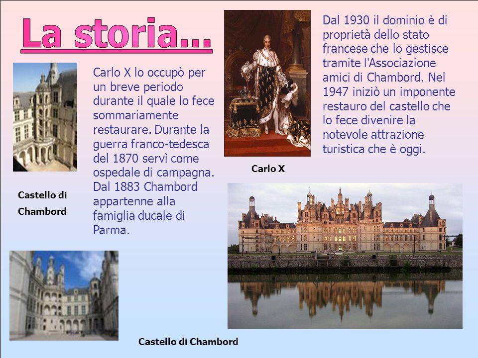 Dal 1930 il dominio è di proprietà dello stato francese che lo gestisce tramite l Associazione amici di Chambord. Nel 1947 iniziò un imponente restauro del castello che lo fece divenire la notevole attrazione turistica che è oggi.