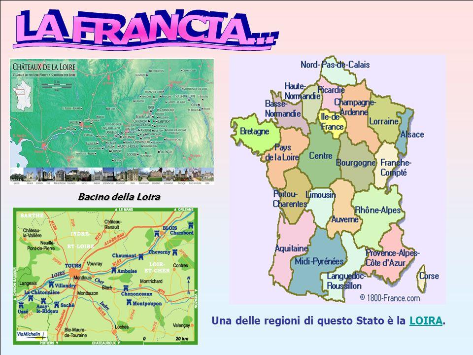 LA FRANCIA... Una delle regioni di questo Stato è la LOIRA.