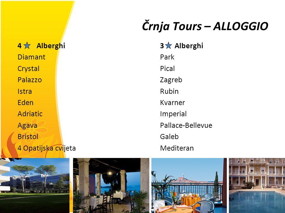 Črnja Tours – ALLOGGIO Alberghi 3 Alberghi Diamant Park Crystal Pical