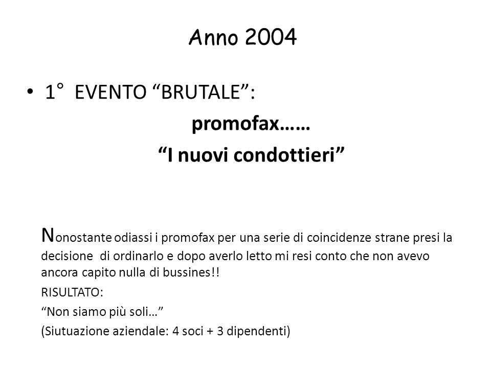 Anno 2004 1° EVENTO BRUTALE : promofax…… I nuovi condottieri