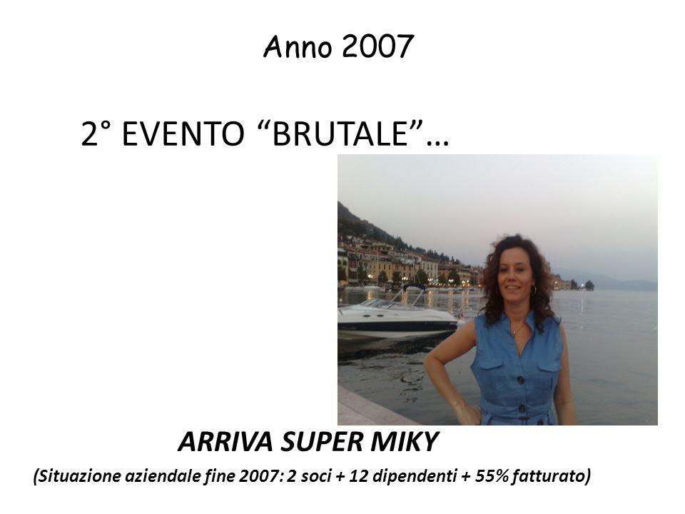 2° EVENTO BRUTALE … Anno 2007 ARRIVA SUPER MIKY