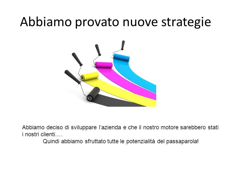 Abbiamo provato nuove strategie