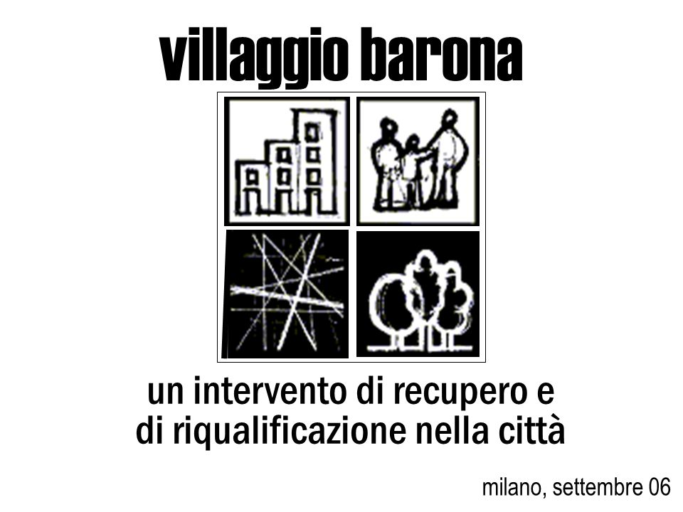 villaggio barona un intervento di recupero e