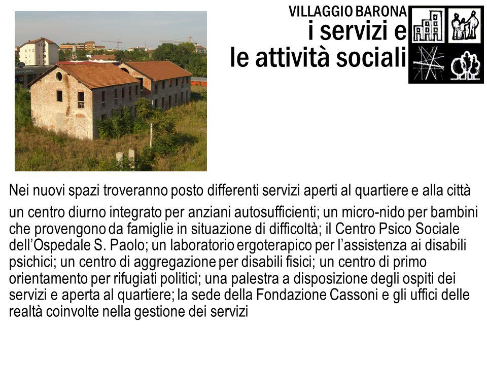 i servizi e le attività sociali VILLAGGIO BARONA