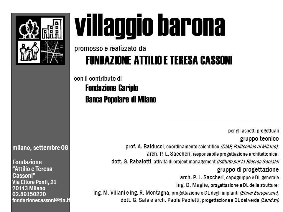 villaggio barona Banca Popolare di Milano promosso e realizzato da