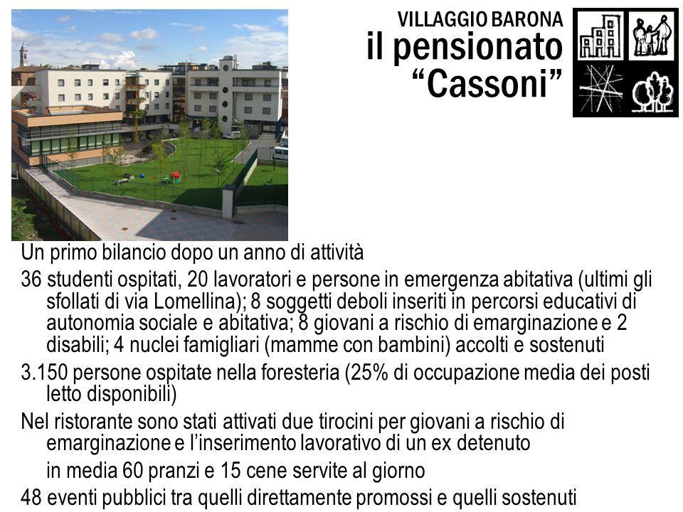 il pensionato Cassoni VILLAGGIO BARONA