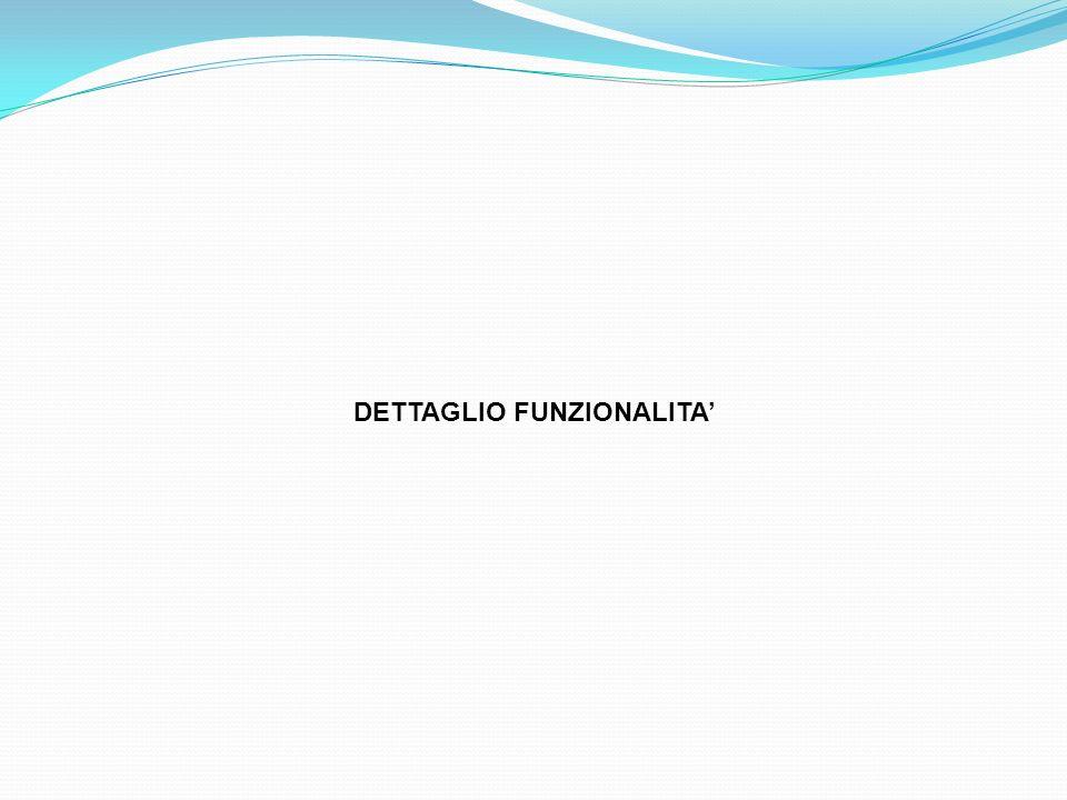 DETTAGLIO FUNZIONALITA'